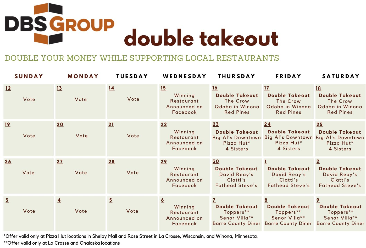 DBS Group Double Takeout